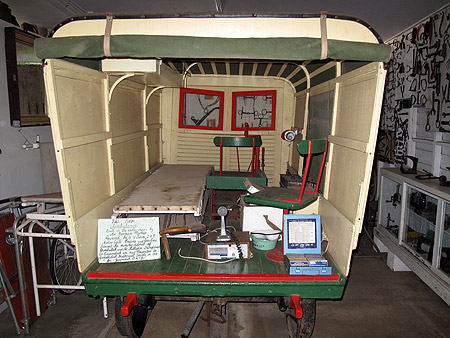 Interior of the Gayndah rail ambulance