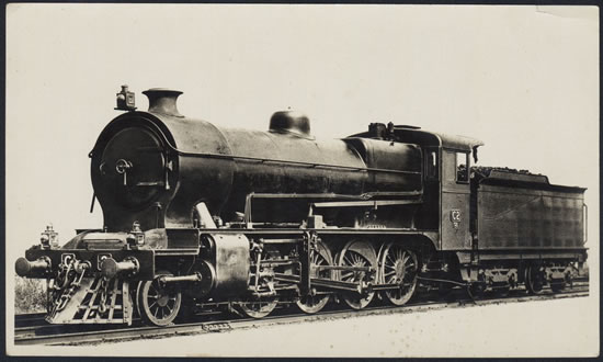 VR C Class 2-8-0 freight loco built at VR's Newport Workshops. Photo courtesy of the Victorian State Library