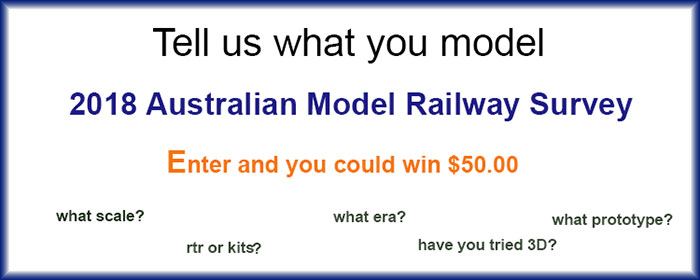 2018 Australian Model Railway Survey