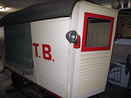 """The drivers """"cab"""" of one Queensland railway ambulance"""