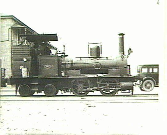 A member of the SAR V Class. These well tank locomotives were built by Beyer Peacock and James Martin & Co - Photo courtesy of State Library of South Australia B46528-27